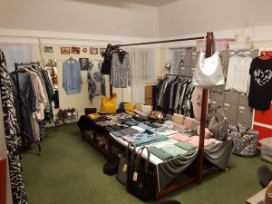 holo clothing and accessories stall
